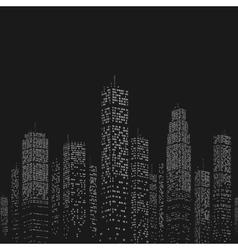 City Skyscraper Pattern vector image