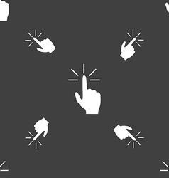 Click here hand icon sign Seamless pattern on a vector