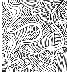 Coloring page doodle wave pattern vector