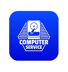 computer service icon blue vector image