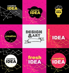 Creative idea design concept logo banner template vector image