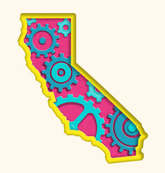 cut out california graphic vector image