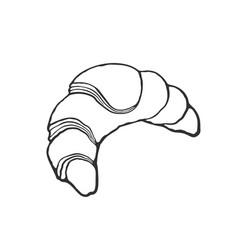 Doodle croissant vector