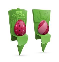 Easter Egg Holders vector