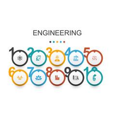 Engineering infographic design templatedesign vector