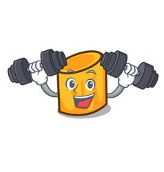 Fitness rigatoni character cartoon style vector