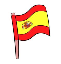 flag spain icon cartoon vector image