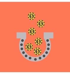 Flat icon on stylish background good luck logo vector