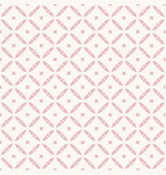 floral seamless pattern vintage ornament in pink vector image