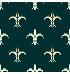 French seamless pattern with fleur de lys flowers vector