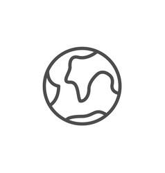 globe line icon vector image