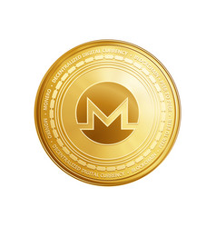 golden ethereum blockchain coin symbol vector image