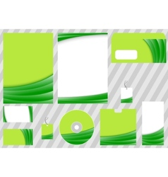 green business corporate template vector image