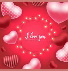 happy valentine s day holiday card vector image
