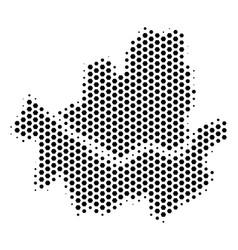 Honeycomb seoul city map vector