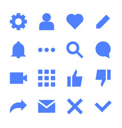 Interface flat icons for web and mobile app vector