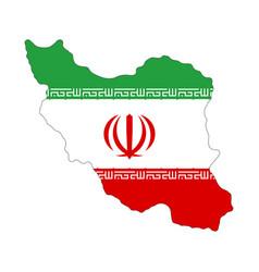 Iran map flag vector