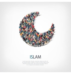 islam people sign 3d vector image