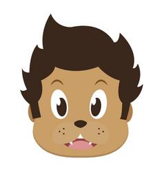 Kid halloween face cartoon vector