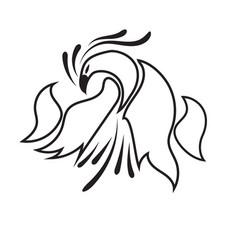 logo black bird line on white background vector image