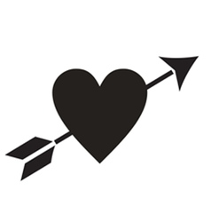 Love Heart Arrow vector