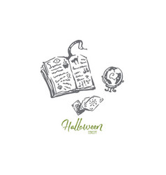 magic book halloween holiday snake concept vector image