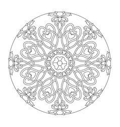 Mandala hearts interlaced vector