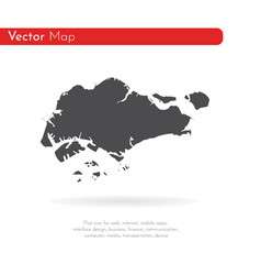 map singapore isolated black vector image