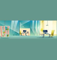 Modern company office cartoon interior vector