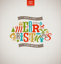 Multicolored Christmas type design vector