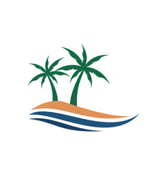 palm beach island view graphic vector image