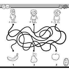 Path maze task coloring book vector