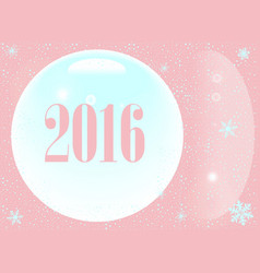 pink new year 2016 vector image