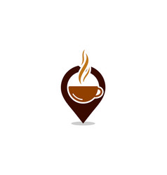 Point coffee logo icon design vector