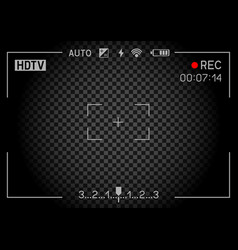 Rec camera viewfinder dark vector