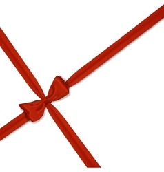 red realistic bow vector image