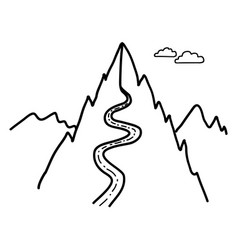 Road to montains vector