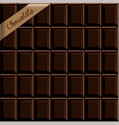 seamless background texture of dark chocolate vector image