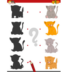 shadow game with kittens vector image