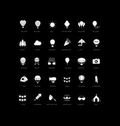 Simple icons balloon festival vector