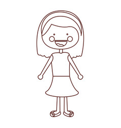 Sketch contour smile expression cartoon short hair vector