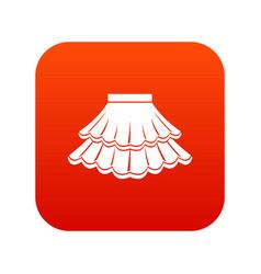 Skirt icon digital red vector