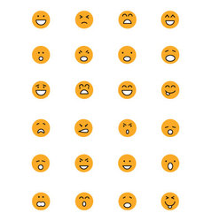 Smiley Colored Icons 1 vector