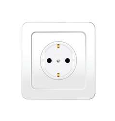 Socket in white color vector