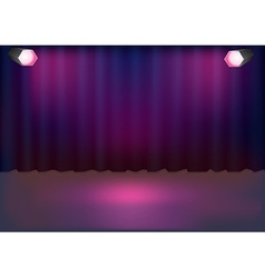Stage background vector image