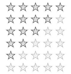 Star rating for 0 - 5 stars best rating vector