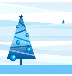 styled new-year landscape vector image