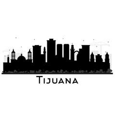 Tijuana mexico city skyline silhouette with black vector
