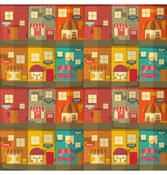 town pattern vector image