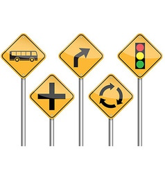 Traffic sign pole set vector